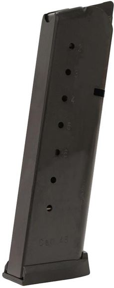 Picture of Mec-Gar Pistol Magazines - 1911, 45 Auto, 8rds, Blued, Removable Buttplate & Follower