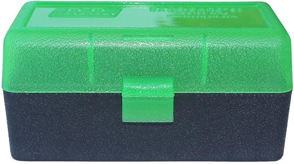 Picture of MTM Case-Gard R-50 Series Rifle Ammo Box - RSS-50, 50rds, Green/Black