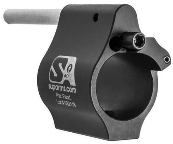 """Picture of Superlative Arms, AR15 Parts - AR-15 Adjustable """"Bleed Off"""" Gas Block, .625"""" Solid, Set Screw, Melonite Finish"""
