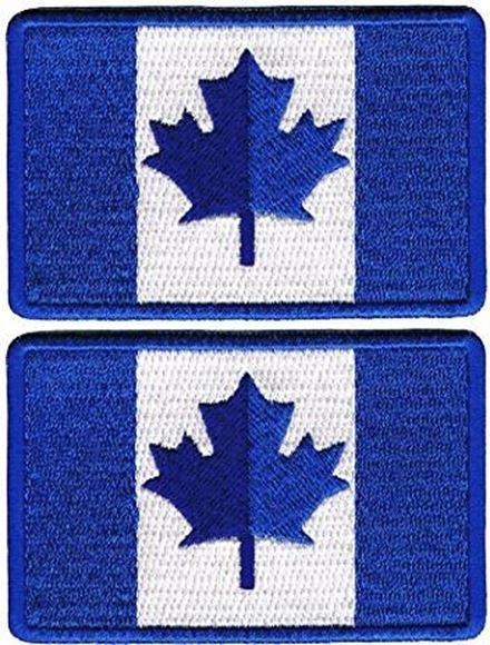 Picture of Canadian Team Maple Leaf, Blue, Velcro Back, Made by Operator Grade