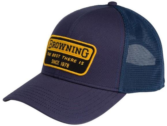 Picture of Browning Headwear - Adjustable Mesh Hat, Best Patch Design, Navy Blue
