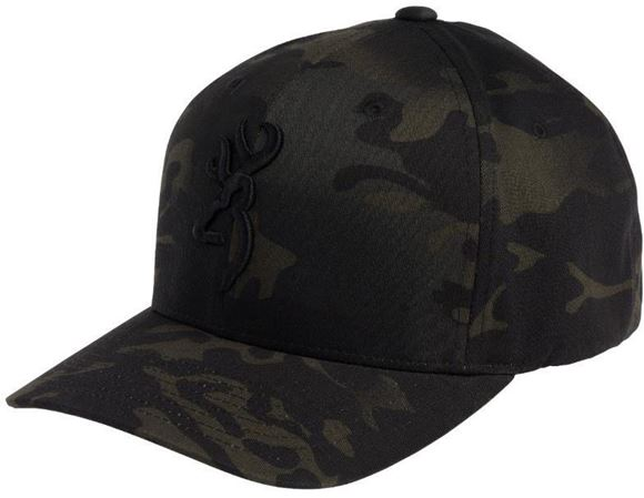 Picture of Browning Hats - Phantom Multi Cam Black, Black Logo, Flex-Fit, L/XL