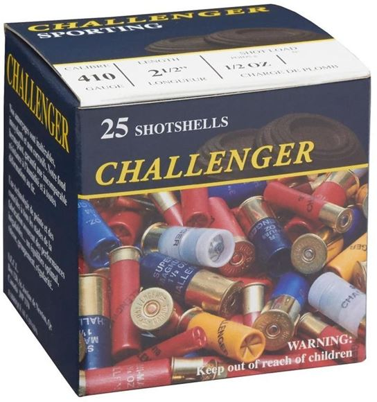 """Picture of Challenger Game Loads Shotgun Ammo - .410"""", 2-1/2"""", 1/2 oz, #6, 25rds Box"""