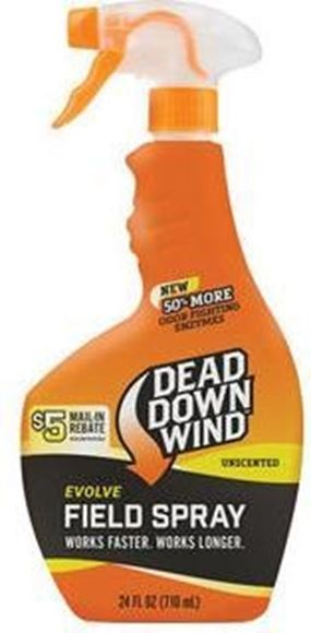 Picture of Dead Down Wind - Evolve Field Spray Scent Eliminator, Unscented, 710mL Spray Bottle