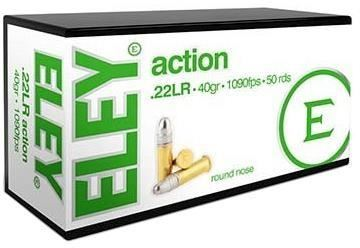 Picture of ELEY Rimfire Ammo - Action, 22 LR, 40Gr, 1090 Fps, Lead Round Nose, 50rds Box