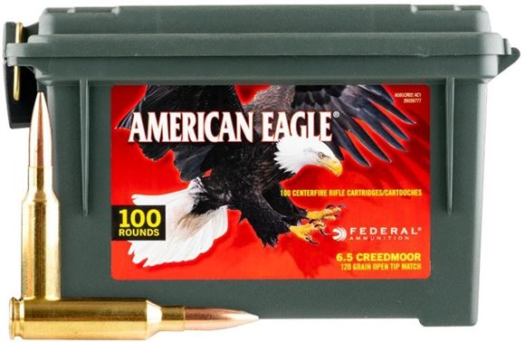 Picture of Federal American Eagle Rifle Ammo - 6.5 Creedmoor, 120gr, OTM, 100rds Ammo Case