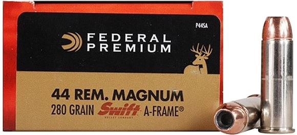 Picture of Federal Premium Handgun Ammo - 44 Rem Mag, 280Gr, Swift A-Frame, 20rds Box