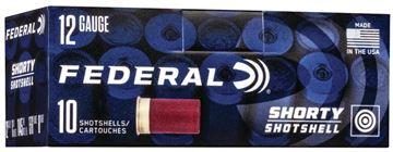 """Picture of Federal Shorty Shotshell Shotgun Ammo - 12Ga, 1-3/4"""", 15/16 oz, Shotshell #8, 10rds Box, 1145fps"""