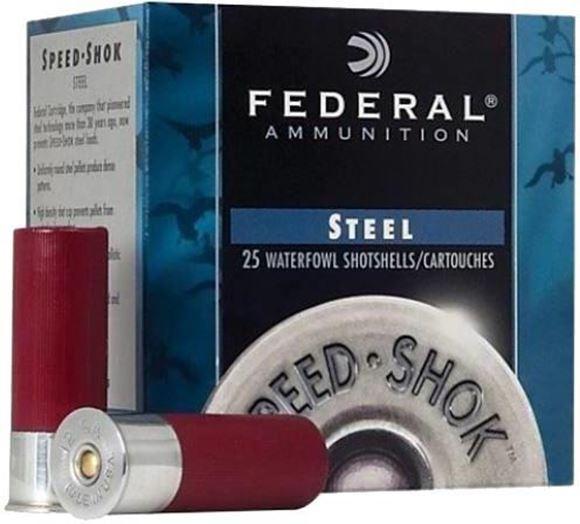 "Picture of Federal Speed-Shok Waterfowl Load Shotgun Ammo - 12Ga, 3"", 1-1/4oz, #1, Steel, 1400fps, 250rds Case"