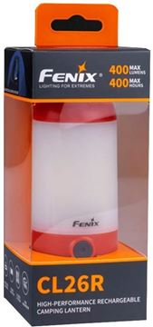 Picture of Fenix All-season Rechargeable Camping Lantern - CL26R, 400 Lumen, 4.1 oz. (116g), Included 1x ARB-L18-2600 Battery, 1x spare O Ring & 1x Mirco-USB cable