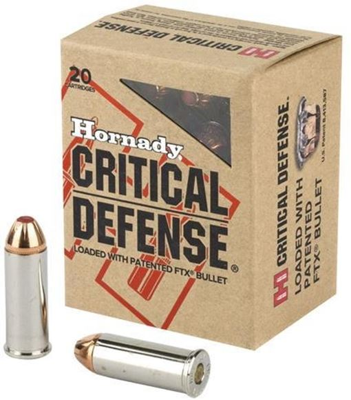Picture of Hornady Critical Defense Handgun Ammo - 44 Special, 165Gr, FTX, 20rds Box