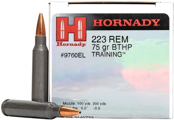 """Picture of Hornady Manufacturing - 223 Rem 75 gr. BTHP TRAINING"""" - Steel Case Match, 50rd Box"""