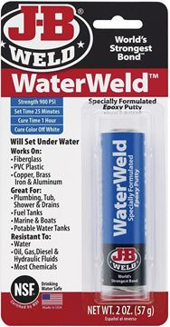 Picture of JB Weld Products - Water Weld (Will Set Underwater), Fiberglass/PVC/Copper/Brass/Iron & Aluminium Adhesive, 57 g (2oz)