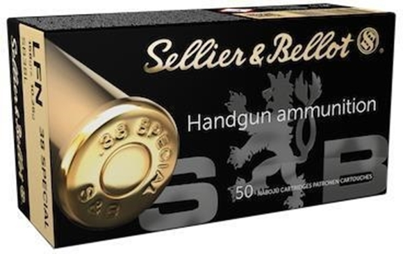 Picture of Sellier & Bellot Handgun Ammo - 38 Special, 158gr, LFN, 1000rds Case