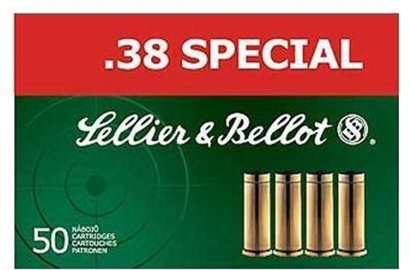 Picture of Sellier & Bellot Pistol & Revolver Ammo - 38 Special, 158Gr, FMJ, 50rds Box