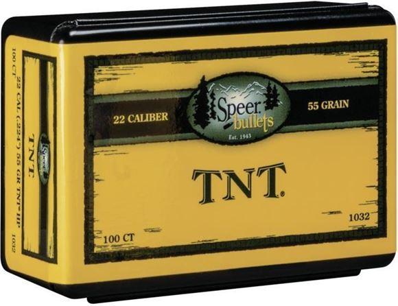 "Picture of Speer TNT Varmint Rifle Bullet - 22 Caliber (.224""), 55Gr, TNT HP, 100ct Box"