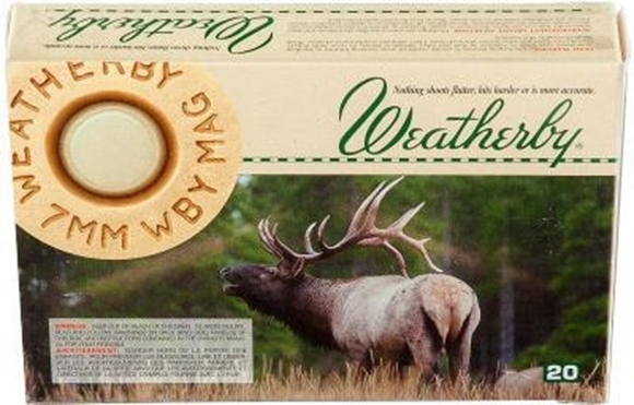 Picture of Weatherby Rifle Ammunition- 7mm WBY Mag 160 gr Nosler Partition 20rd Box