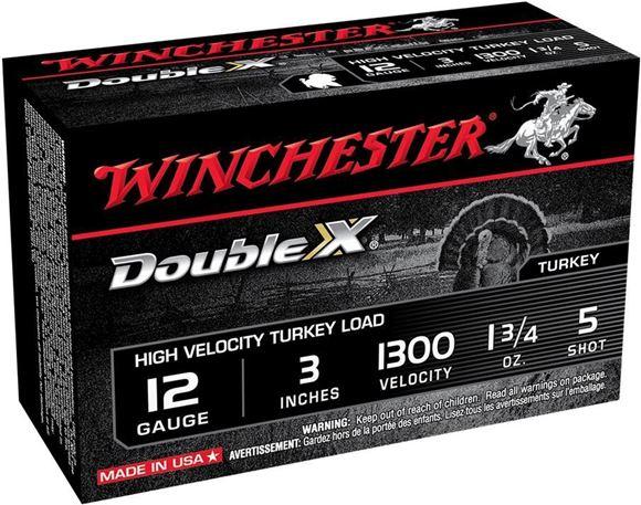 "Picture of Winchester Double-X High Velocity Turkey Shotgun Ammo - 12ga, 3"", 1 3/4oz, #5, 1300 fps, 10Rd Box"