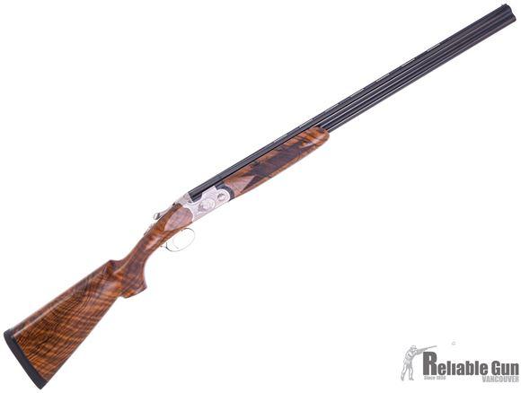 "Picture of Used Beretta 690 Field III Over/Under Shotgun - 20Ga, 3"", 28"", Steelium, Blued, Oiled High-Grade 2.5+ Wood Stock, OptimaChoke HP Flush (F,IM,M,IC,C), Original Case, Excellent Condition"