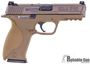 "Picture of Used Smith & Wesson (S&W) M&P9 VTAC Viking Tactics Striker Fire Action Semi-Auto Pistol - 9mm, 4-1/4"", Flat Dark Earth Polymer Frame & Flat Dark Earth Stainless Steel Slide, Polymer Grip, 3 Magazines, VTAC Warrior Sights, Good Condition"