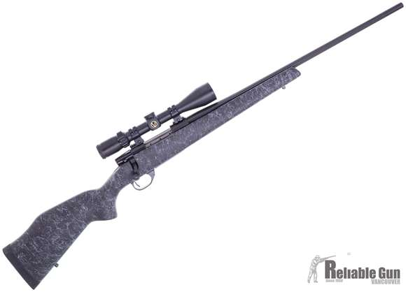 "Picture of Used Weatherby Vanguard Wilderness Bolt Action Rifle - 6.5 Creedmoor, 24"" Fluted Barrel, Blued, Monte Carlo Carbon Fiber Composite Stock, Vixen 3-12x40 Scope, Excellent Condition"
