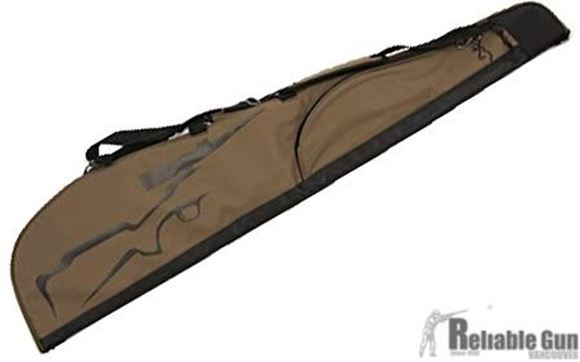 "Picture of Browning Gun Cases, Flexible Gun Cases - Marksman Scoped Rifle Case, 48"", Olive/Black, Heavy Duty Nylon Ripstop, Brushed Tricot Lining, Web Handle"