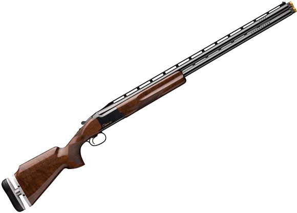 """Picture of Browning Citori CXT Micro LOP Over/Under Shotgun - 12Ga, 3"""", 30"""", Wide Floating Rib, Polished Blued, Silver Nitride Receiver, Gr.II Monte Carlo American Black Walnut Stock, Adjustable Buttplate, Ivory Bead Front & Mid-Bead Sights, Midas Chokes (F, IM, M)"""