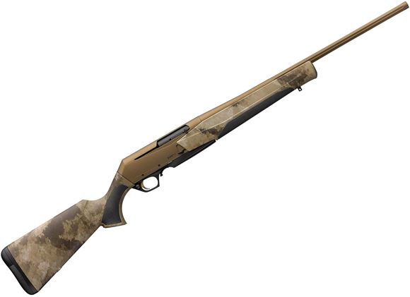 """Picture of Browning BAR MK3 Hell's Canyon Semi-Auto Action Rifle - 300 Win Mag, 24"""" Fluted Heavy Sporter Barrel, Cerakote Burnt Bronze Finish, Composite Stock w/ Overmolded Grips, A-TACS AU Camo Finish, 3rds"""