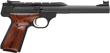 "Picture of Browning Buck Mark Hunter Semi-Auto Rimfire Pistol - 22 LR, 7-1/4"", Matte Blued Heavy Barrel, Laminated Target Grip, 10rds, TruGlo Front Adjustable Rear Sight"