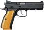 "Picture of CZ Shadow 2 Orange DA/SA Semi-Auto Pistol - 9mm, 4.89"", Hammer Forged, Black Polycoat, Orange Thin Aluminum Grips, 3x10rds w/ Orange Mag Bases, Fiber Optic Front & Fixed Rear Sights, Ambi Safety, Gunsmith Tuned"