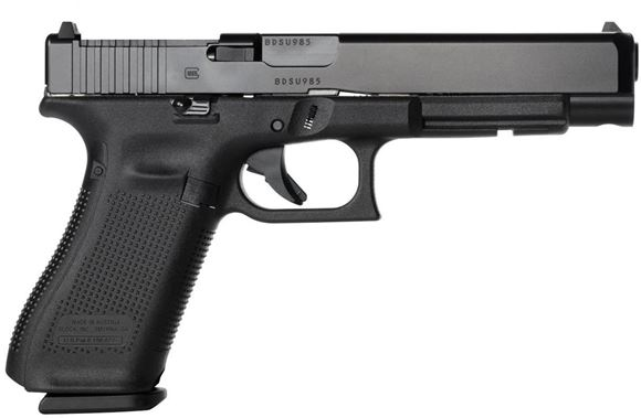 "Picture of Glock 34 Gen5 MOS Semi-Auto Pistol - 9mm, 5.31"", Black, Adjustable Sight w/Modular Optic System Configuration, 3x10rds"