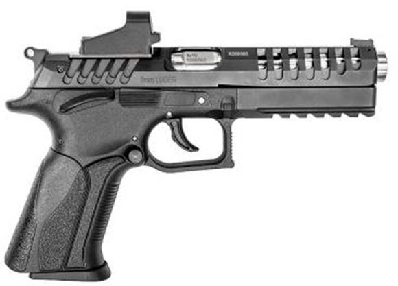 """Picture of Grand Power X-Calibur Match Optic Rdy DA/SA Semi-Auto Pistol - 9x19mm Luger, 5"""" (126.7mm), X-Trim Slide Design Vented, Matte Black, 2x10rds, Red Fiber Optic Front & Elliason Fully Adjustable Micrometric Rear Sights, Ambidextrous Wide Safety & Mag Release"""