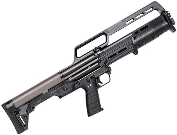 "Picture of Kel-Tec KS7 Pump Action Shotgun - 12Ga, 3"", 18-1/2"", Parkerized, Black Synthetic Stock, Raised Grip Sight, Fiber Optic Front Sight, 6rds"