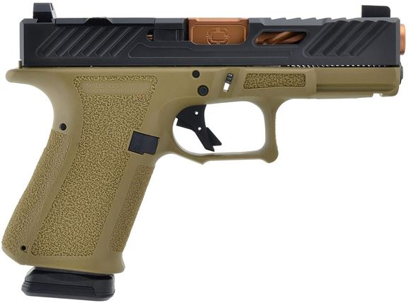 """Picture of Shadow Systems MR918 Elite Semi-Auto Handgun - 9mm, 1-10"""", 106mm 416R Stainless, FDE Frame, Black RMR Cut Slide, Stainless Guide Rod, Tritium Front Sight, 2x10rds"""