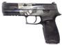 "Picture of SIG SAUER P320 Blue Edition Striker Action Semi-Auto Pistol - 9mm, 4.7"", Nitron Finish W/ Canadian Flag, Black Polymer Grip Module, 2x10rds, 3-Dot Sights"
