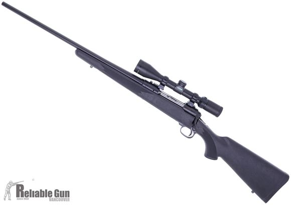 """Picture of Savage Arms Package Series Model 111 International Trophy Hunter XP Bolt Action Rifle, Left Hand - 30-06 Sprg, 22"""", Matte Black, Carbon Steel, Matte Black Synthetic Stock, 4rds, w/Weaver 3-9x40mm Riflescope, AccuTrigger Salesman Sample"""