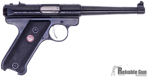 """Picture of Used Ruger Mk III Semi-Auto 22 LR, 6"""" Tapered Barrel, Blued, No Mag, Original Box, Very Good Condition"""