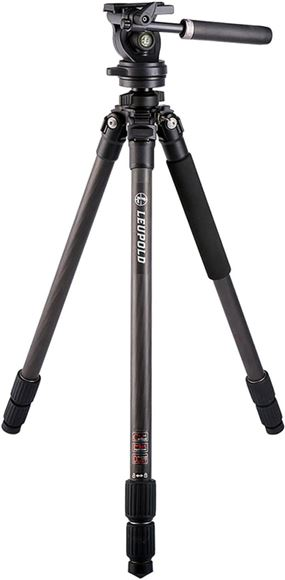 Picture of Leupold Tripods, Optic Accessories - 3 Section Legs, 25mm Carbon Fiber Legs, Pan/Tilt Head, Twist Lock Leg Adjustment, 1/4 Drive on a 1/2 Socket For Tightening IMS Mounts to Picatinny Rails