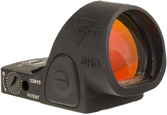 Picture of Trijicon SRO Reflex Optic - Sight Adjustable LED Optic, 1 MOA, Black Matte, 7075 Aluminum, Waterproof, 1 MOA/Click