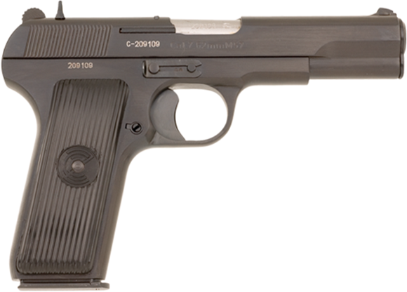 Picture of Zastava Arms M57 Single Action Semi-Auto Pistol - 7.62x25mm, 116mm, Blue, Polymer Grips, 1x9rds, Fixed Iron Sights