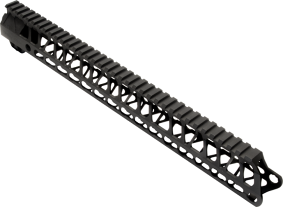 "Picture of Timber Creek Outdoors AR15 Parts - Enforcer AR Free Float Handguard, 15"", Keymod, Full Length Mil-Spec 1913 Rail, Red"