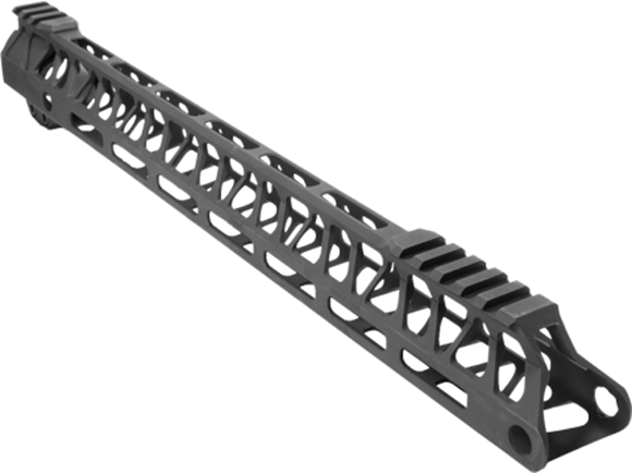 "Picture of Timber Creek Outdoors AR15 Parts - Ultra Lite Enforcer AR Free Float Handguard, 15"", M-Lok, Full Length Mil-Spec 1913 Rail, Black"