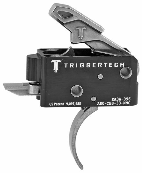 Picture of Trigger Tech, AR15 Trigger - Competitive Frictionless Trigger, Curved, Short Two Stage, Fixed 3.5lbs, Small Pin. *Will work with STAG 10