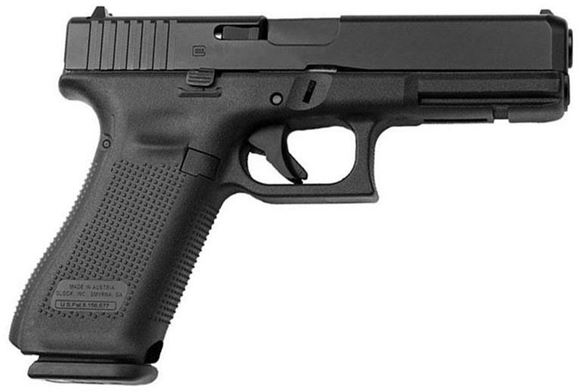 "Picture of Glock 17 Gen5 AMGLO Safe Action Pistol - 9mm, 4.49"" Marksman Barrel, nDLC Finish, 3x10rds, AmeriGlo Bold Sights, Front Serration"