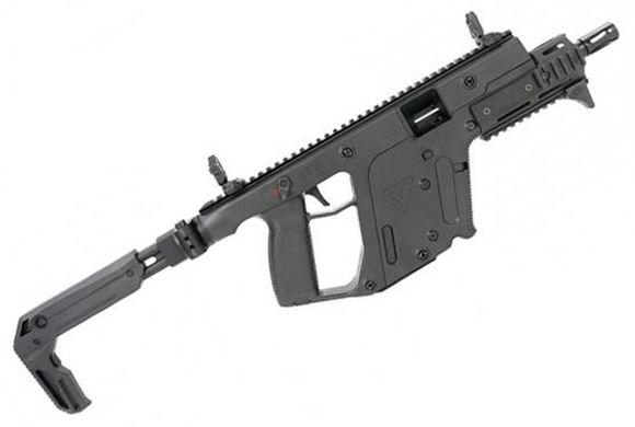 "Picture of KRISS Vector SBR Enhanced Semi-Auto Carbine - 9mm, 6.5"", 1:10"", Threaded, Black, Ambidextrous Folding Stock, 10rds, Flip Up Front & Rear Sights, MK5 Modular Rail"