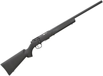 "Picture of Marlin Model XT-17VR Rimfire Bolt Action Rifle - 17 HMR, 22"", Blued, Heavy Varmint, Black Synthetic Beaver-Tail Stock w/Palm Swell & Stippled Full Pistol Grip, 4/7rds, Pro-Fire Adjustable Trigger"