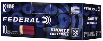 "Picture of Federal Shorty Shotshell Shotgun Ammo - 12Ga, 1-3/4"", 15 Pellet, 4 Buck, 10rds Box, 1200fps"
