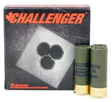 "Picture of Challenger Hunting Loads Shotgun Ammo - Buck Shot Magnum, 12Ga, 2-3/4"", 9 Pellets, 00 Buck, 25rds Box"