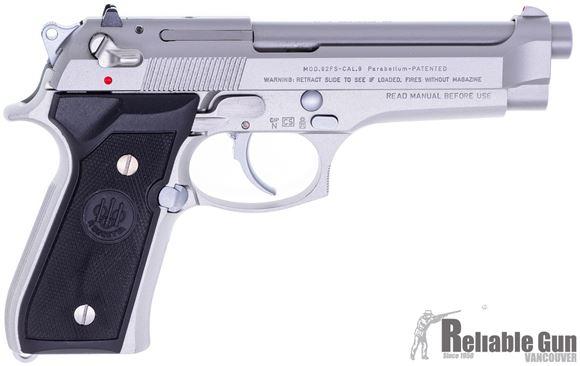 Picture of Used Beretta 92 Inox Semi Auto Pistol, 9mm Luger, 4 Mags, Original Case, Excellent Condition