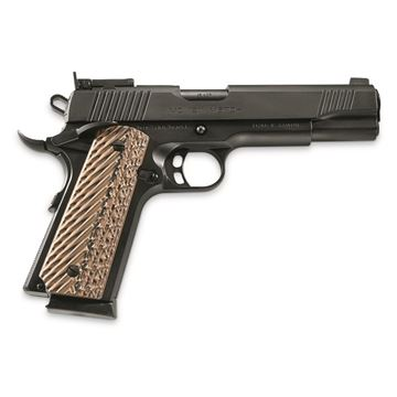 "Picture of Girsan MC 1911 Match Semi-Auto Pistol - 45 ACP, 5"", Black, Extended Ambidextrous Safety, Flared Magwell, Black & Gray G10 Grips, Adjustable Rear Sight, Extended Beavertail, 2x8rds"